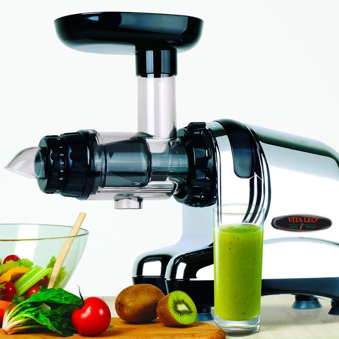 Saftpresse Vitaleo DA1000. Eignet sich super zum effizient Gemüsesaft herzustellen.