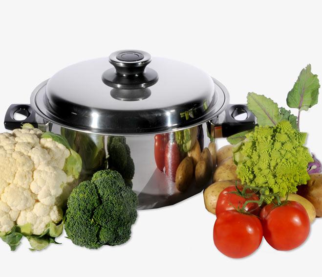 Apenta Pfanne Vakuumsteamer super geeignet zum Kochen mit tiefen Temperaturen.