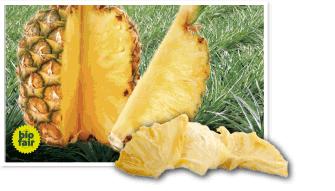 trockenfrueFricshe Ananas  angeschnitten