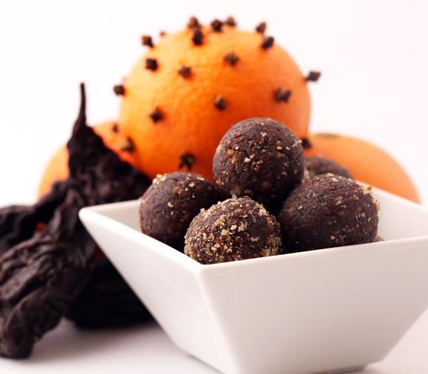 Festtagsmenu Desserts, Doerrobst Frucht-Pralinen, Powerkugeln, Kekse