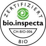 Bio Inspecta Zertifikat aus der Schweiz für biologische Produkte